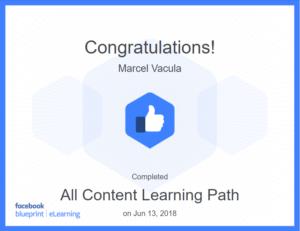 Facebook Blueprint all content certificate